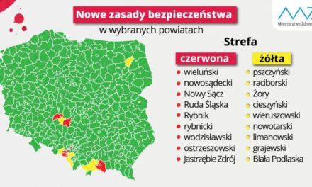 Powiat ostrzeszowski nadal w czerwonej strefie