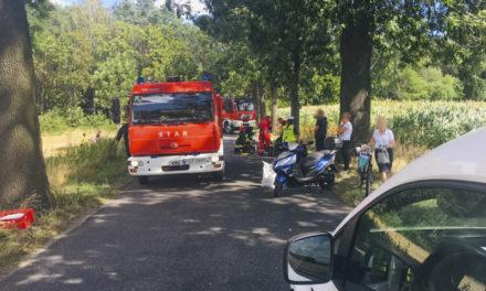Potrącenie w Olszynie. Na miejscu interweniował śmigłowiec LPR