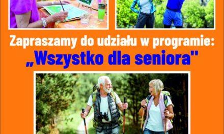 """Rządowy Program Aktywności Społecznej Osób starszych """"Wszystko dla seniora"""""""
