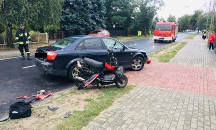 Ostrzeszów: Motocyklista uderzył w samochód