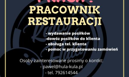 Praca: pracownik restauracji