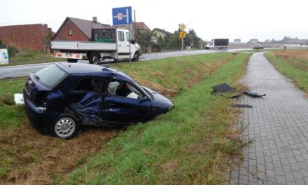 Wypadek w Rojowie. Jedna osoba w szpitalu