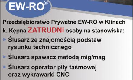 Oferta pracy w EW-RO!