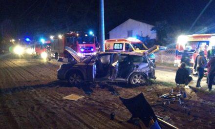 Wypadek w Bobrownikach. Matka z 2 dzieci w szpitalu