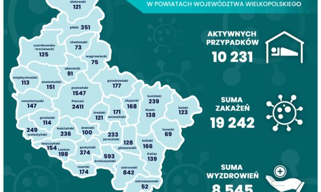 Powiat: 16 nowych przypadków zakażenia