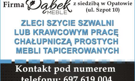 Firma Dąbek Meble zatrudni pracowników!