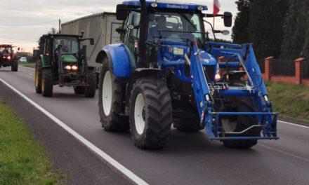 Rolnicy z Kępna protestowali w Ostrzeszowie