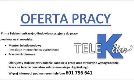 Firma telekomunikacyjna – budowlana przyjmie do pracy!