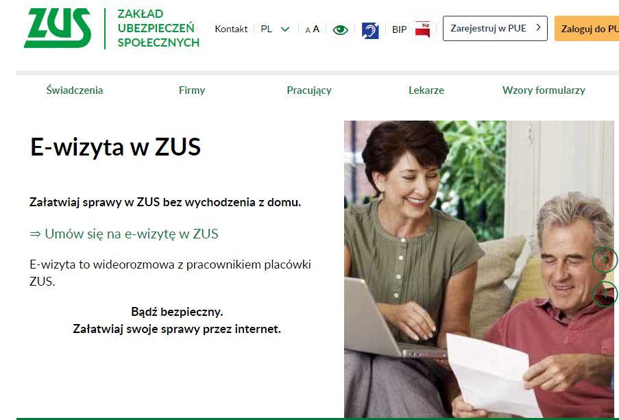 W całym kraju ruszają e-wizyty w ZUS