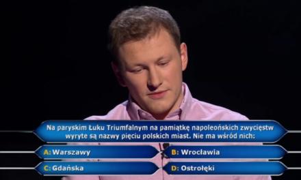 Mieszkaniec Grabowa nad Prosną w ,,Milionerach,, TVN. Usłyszał pytanie za milion!