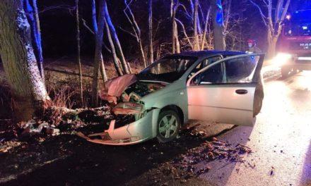 Siedlików: Samochód uderzył w drzewo