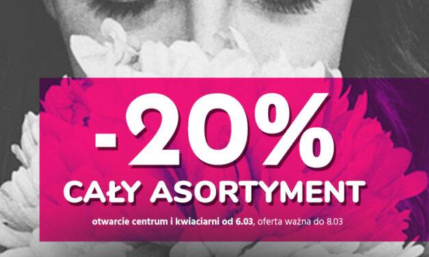 """-20% na cały asortyment w Centrum Ogrodnicznym """"Zielony Ogród""""!"""