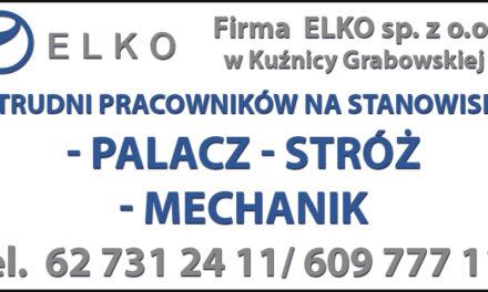 Firma ELKO zatrudni pracowników!