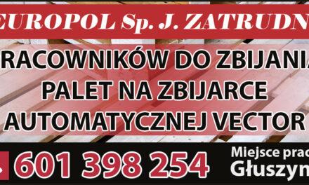 Firma EUROPOL zatrudni pracowników!