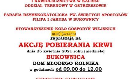 Akcja pobierania krwi w Bukownicy