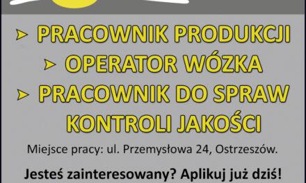 Firma Skaltex zatrudni pracowników!