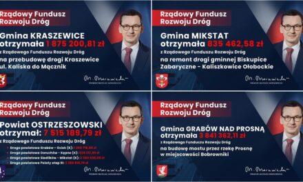 Miliony na drogi powiatu ostrzeszowskiego