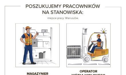 PRACA: MAGAZYNIER/OPERATOR WÓZKA WIDŁOWEGO