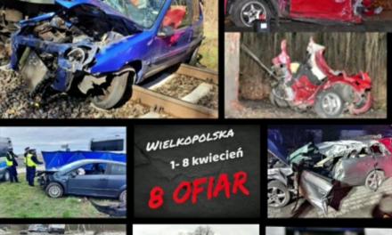 Siedem zdarzeń – 8 ofiar! Policja apeluje o ostrożność