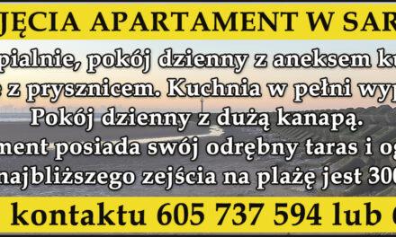 Do wynajęcia apartament w Sarbinowie!