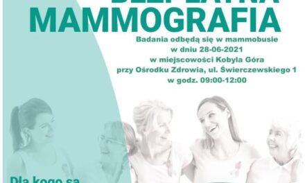Bezpłatna mammografia w Kobylej Górze