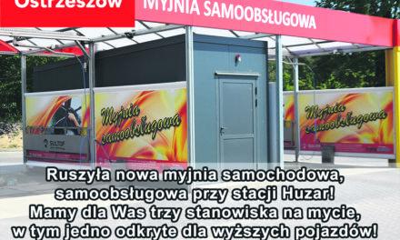 Ruszyła nowa myjnia samochodowa przy stacji Huzar w Ostrzeszowie!