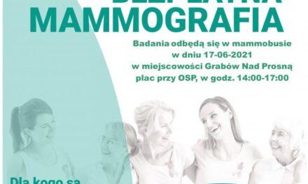 Bezpłatne badania mammograficzne w Grabowie nad Prosną