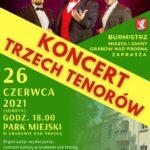 Grabów: Koncert Trzech Tenorów w Parku Miejskim