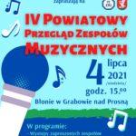IV Powiatowy Przegląd Zespołów Muzycznych już w niedzielę!
