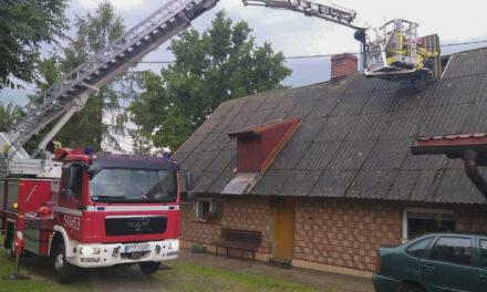 Strażacy usuwali skutki nawałnicy