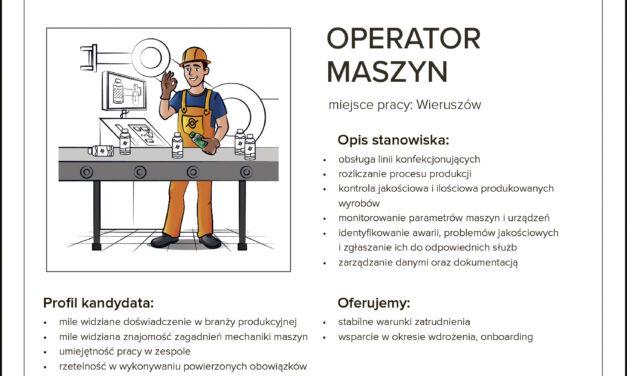 PRACA: OPERATOR MASZYN