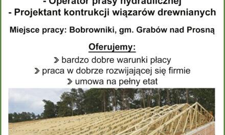 Oferta pracy w Bobrownikach!