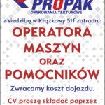 Oferta pracy w firmie PROPAK!