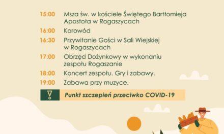Dożynki Gminne w Rogaszycach [zaproszenie]