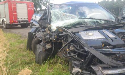 Chevrolet uderzył w drzewo