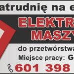 PRACA: ELEKTRYK MASZYN