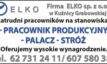 Firma ELKO poszukuje pracowników!