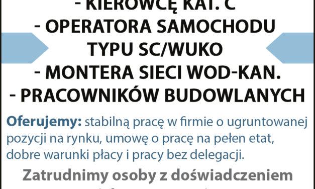 Firma Wawrzyniak zatrudni pracowników!