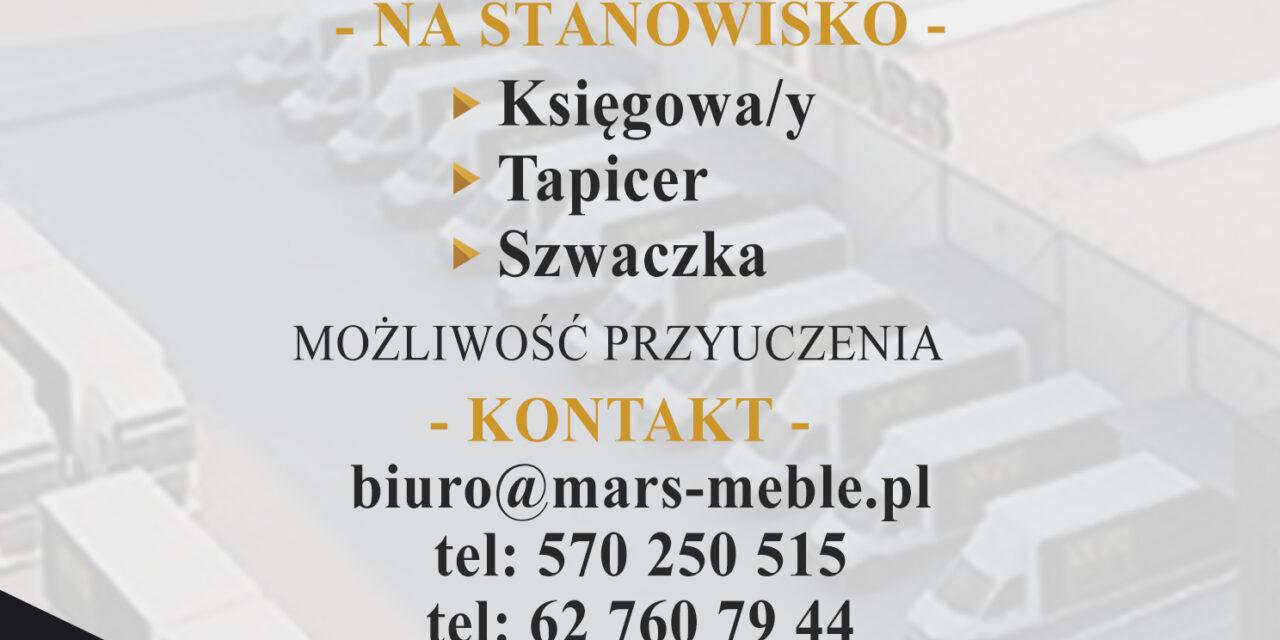 Oferty pracy w firmie MARS MEBLE