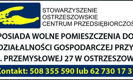 Ogłoszenie dot. wolnych pomieszczeń do działalności gospodarczej!