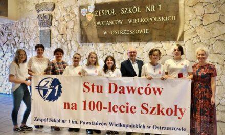 Stu Dawców na 100-lecie Szkoły!
